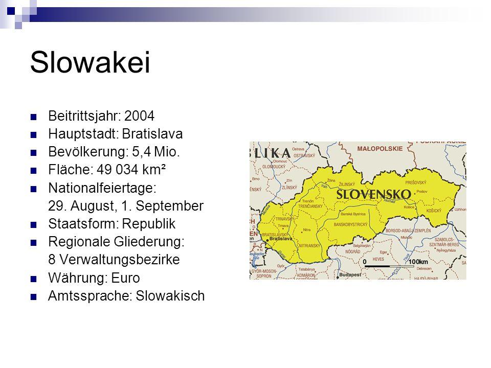 Wusstest du, dass… … die Slowakei ein hochgelegenes Land ist, weil gut 80 Prozent seiner Fläche mehr als 750 Meter über dem Meeresspiegel liegen.