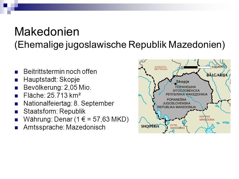 Wusstest du, dass…...der Staat Mazedonien in 8 Regionen und 84 Gemeinden untergliedert ist.