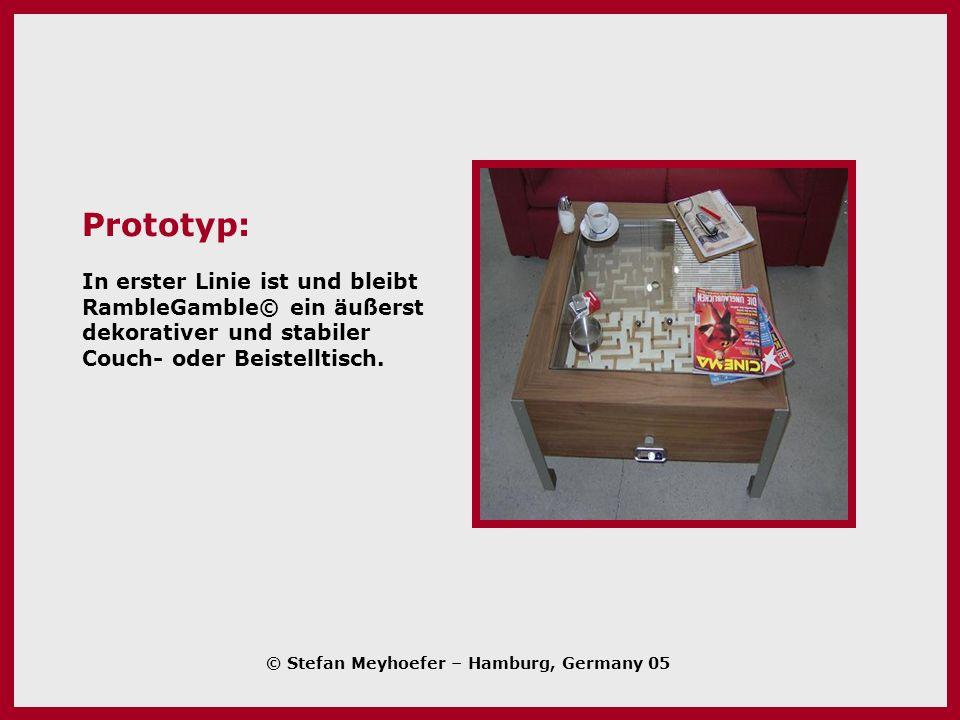 Prototyp: In erster Linie ist und bleibt RambleGamble© ein äußerst dekorativer und stabiler Couch- oder Beistelltisch.