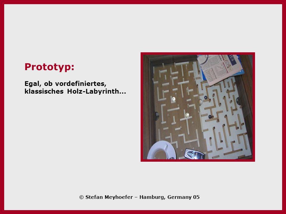 Prototyp: Egal, ob vordefiniertes, klassisches Holz-Labyrinth...