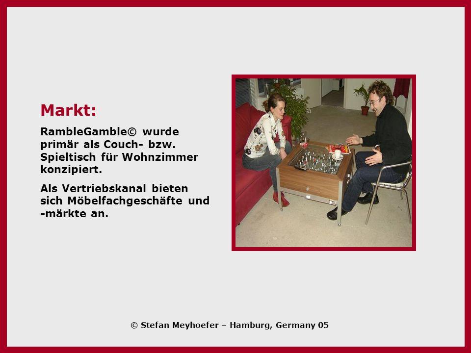 Markt: RambleGamble© wurde primär als Couch- bzw. Spieltisch für Wohnzimmer konzipiert.