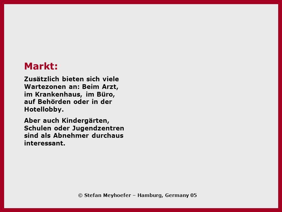 Markt: Zusätzlich bieten sich viele Wartezonen an: Beim Arzt, im Krankenhaus, im Büro, auf Behörden oder in der Hotellobby.