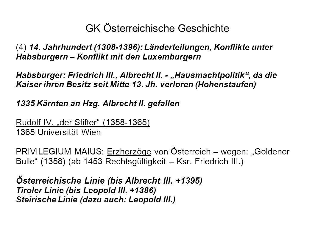 GK Österreichische Geschichte (4) 14.