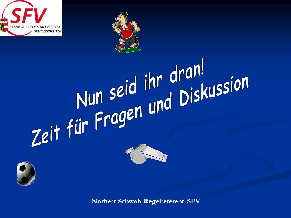 Norbert Schwab Regelreferent SFV