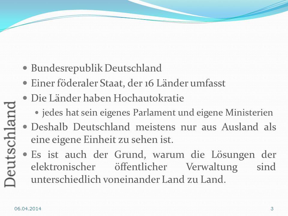 Bundesrepublik Deutschland Einer föderaler Staat, der 16 Länder umfasst Die Länder haben Hochautokratie jedes hat sein eigenes Parlament und eigene Mi