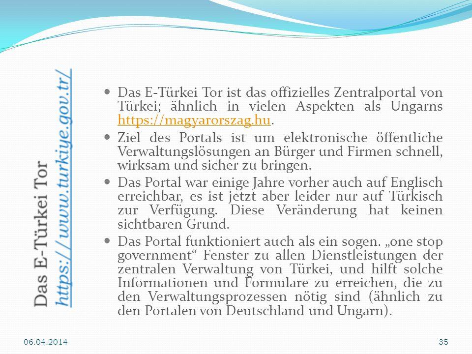 Das E-Türkei Tor ist das offizielles Zentralportal von Türkei; ähnlich in vielen Aspekten als Ungarns https://magyarorszag.hu. https://magyarorszag.hu