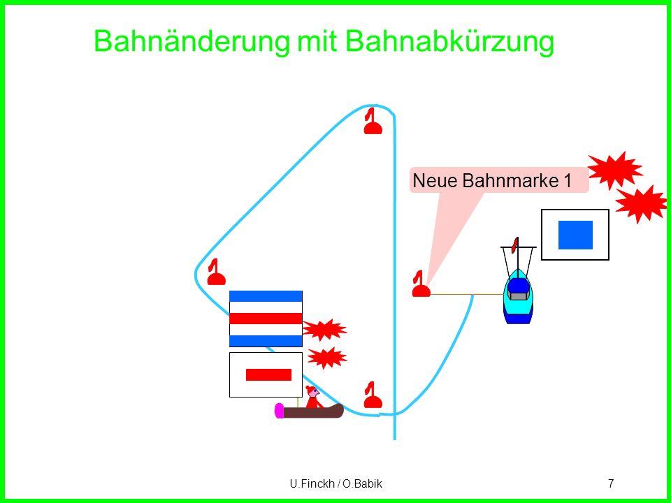 U.Finckh / O.Babik7 Bahnänderung mit Bahnabkürzung Neue Bahnmarke 1
