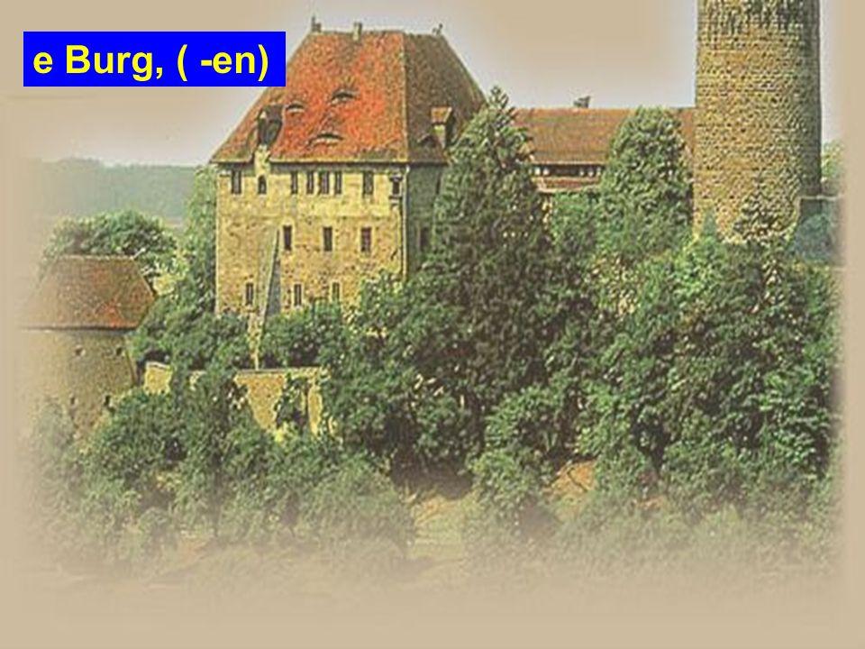 e Burg, ( -en)