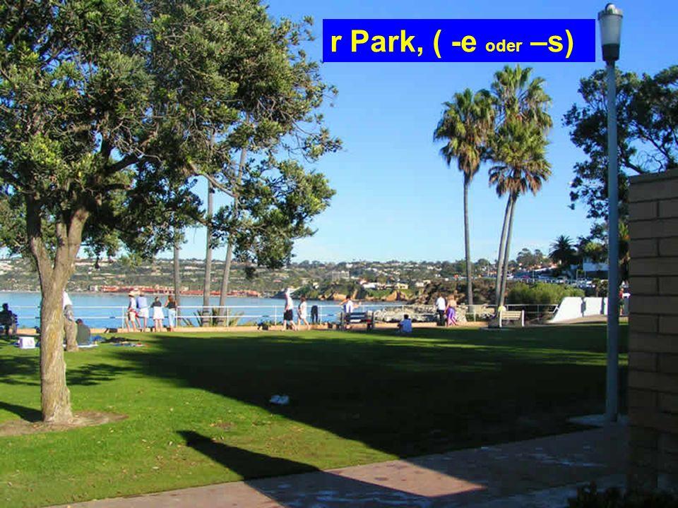 r Park, ( -e oder –s)