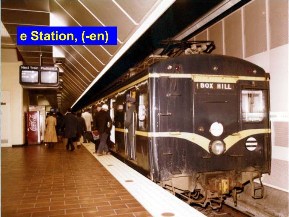 e Station, (-en)