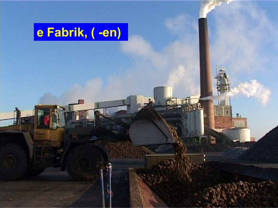 e Fabrik, ( -en)