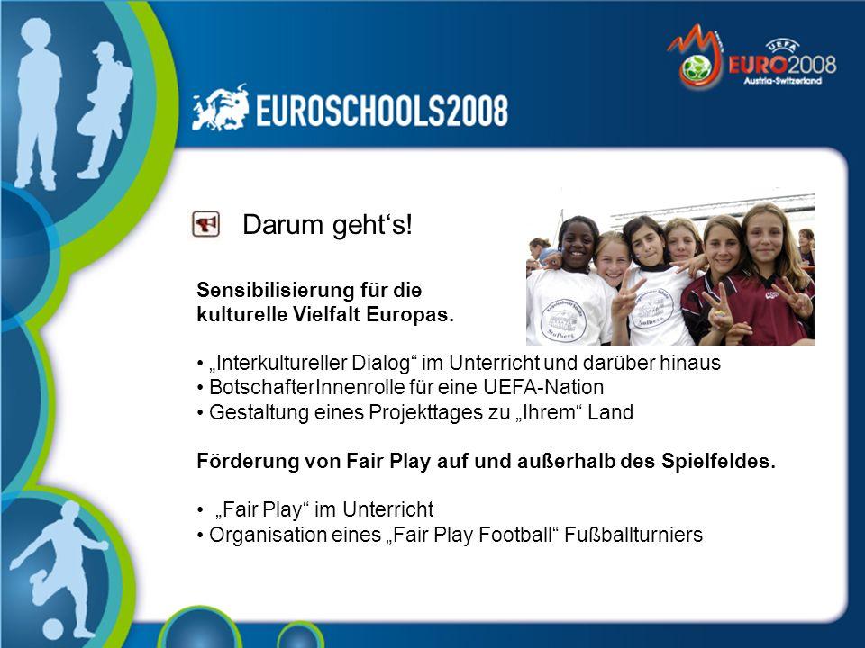 Darum gehts.Sensibilisierung für die kulturelle Vielfalt Europas.