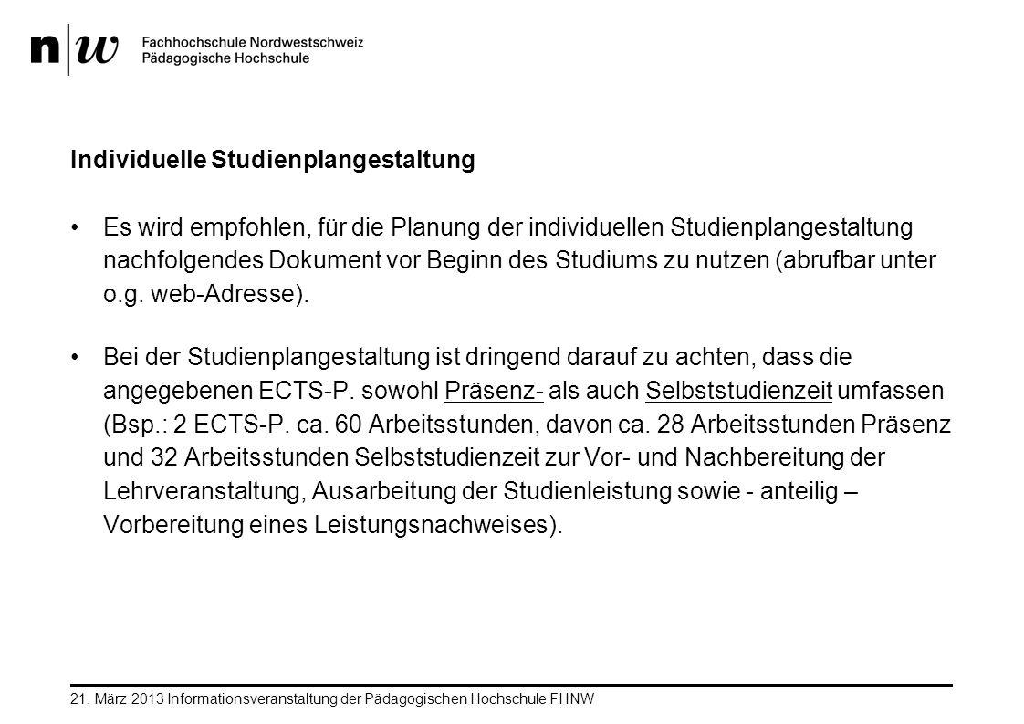 Individuelle Studienplangestaltung Es wird empfohlen, für die Planung der individuellen Studienplangestaltung nachfolgendes Dokument vor Beginn des St