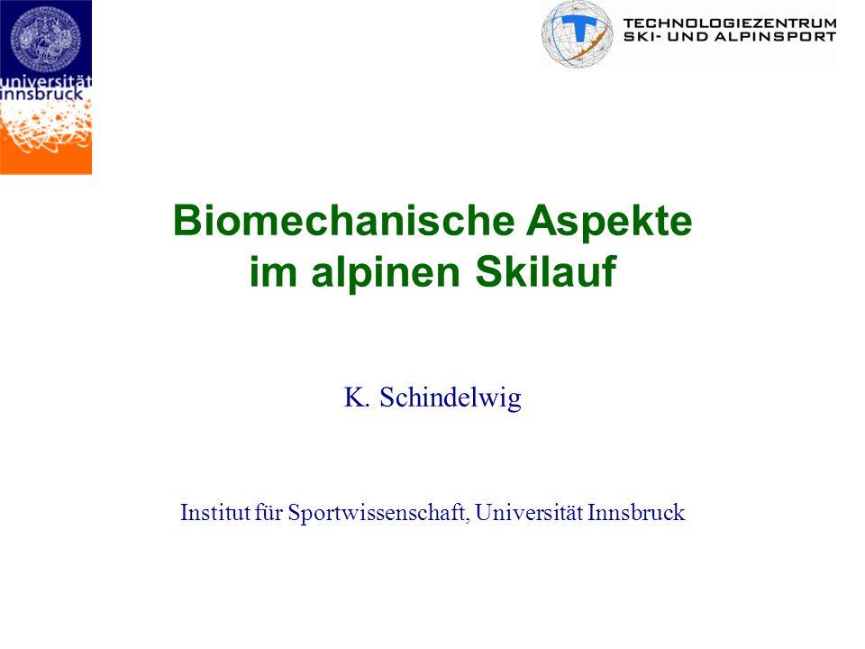 Biomechanische Aspekte im alpinen Skilauf K. Schindelwig Institut für Sportwissenschaft, Universität Innsbruck