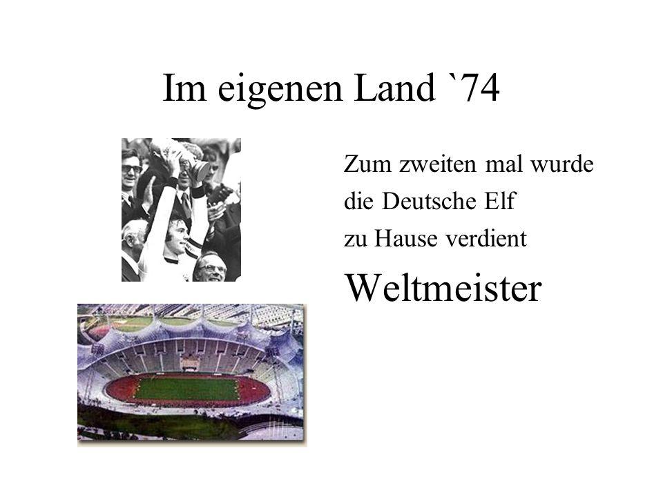 Das Wunder von Bern `54 Deutschland völlig uner- wartet zum ersten mal Weltmeister