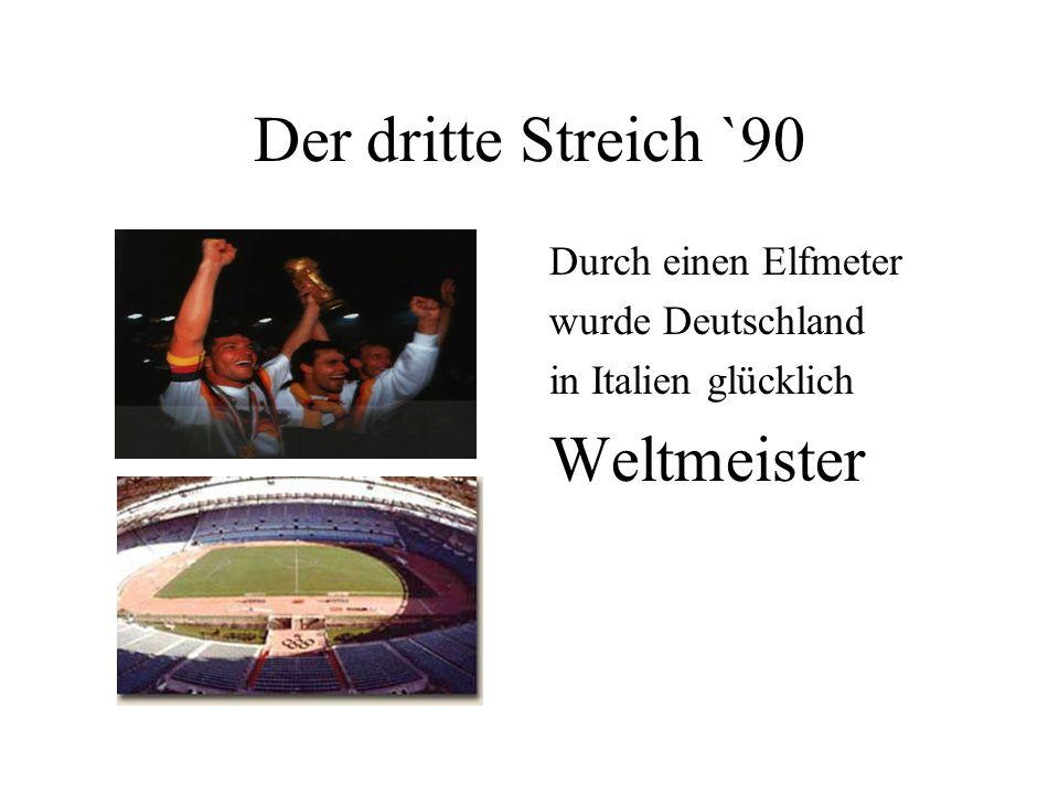 Im eigenen Land `74 Zum zweiten mal wurde die Deutsche Elf zu Hause verdient Weltmeister