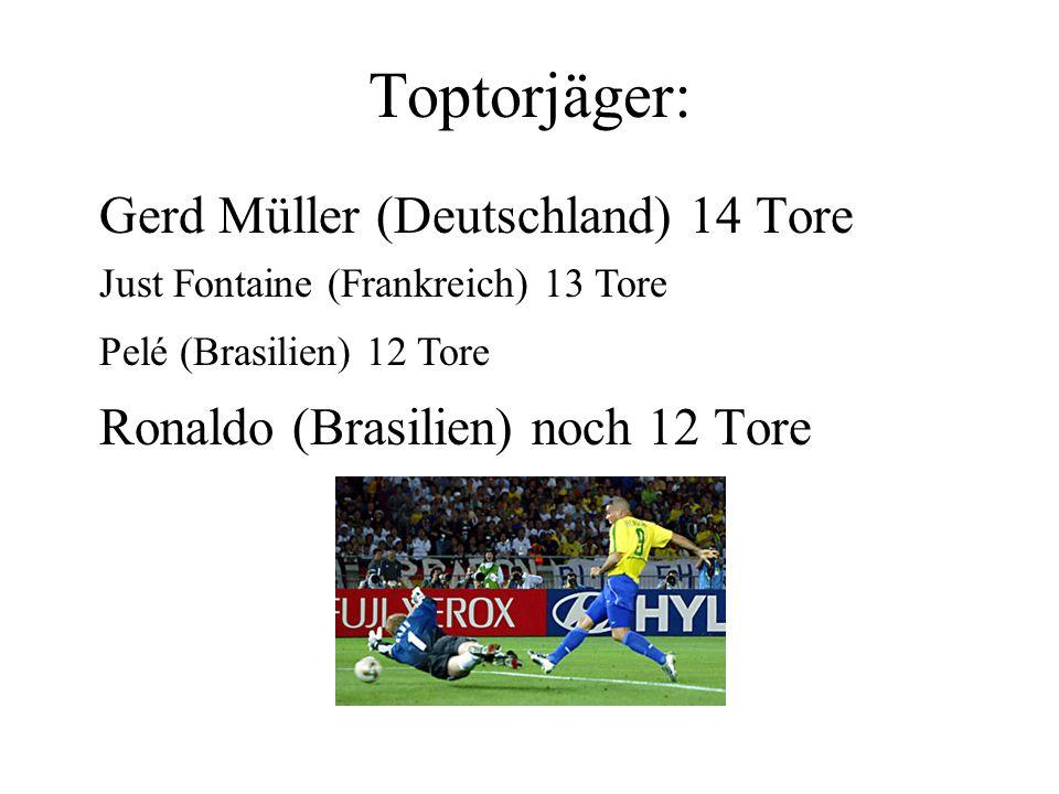 Die meisten Tore in einem WM-Spiel 1954: 12 Tore in einem Spiel Schweiz - Österreich 5 : 7