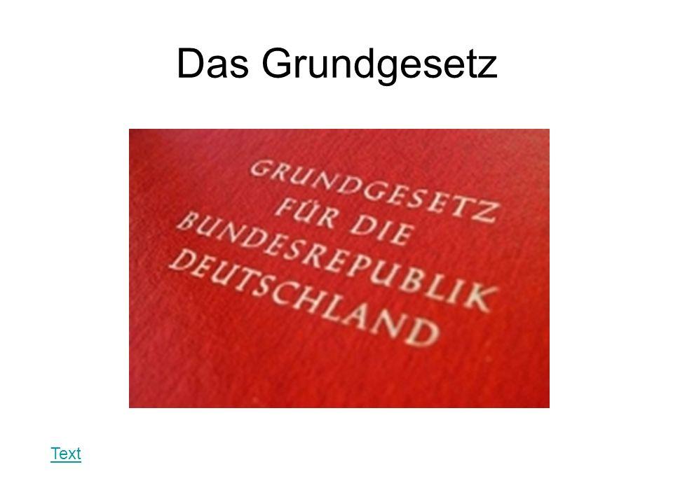 Das Grundgesetz Text