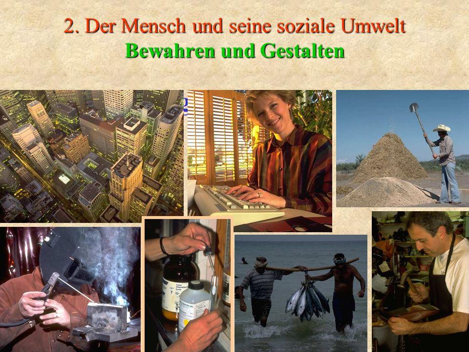 2. Der Mensch und seine soziale Umwelt Bewahren und Gestalten Veränderungen