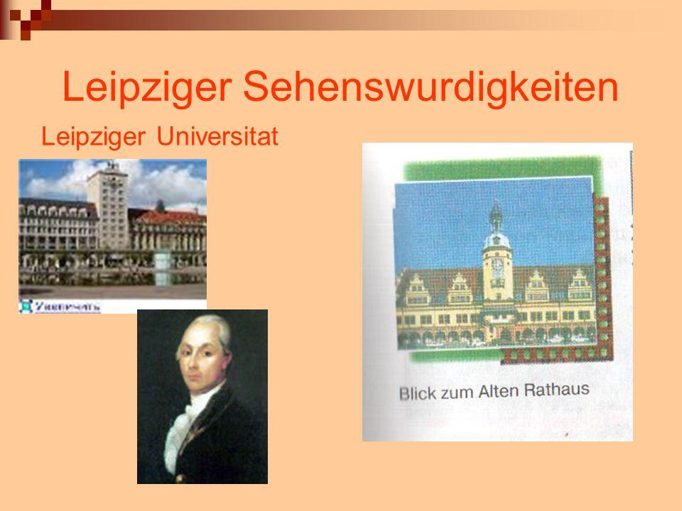 Leipziger Sehenswurdigkeiten Leipziger Universitat