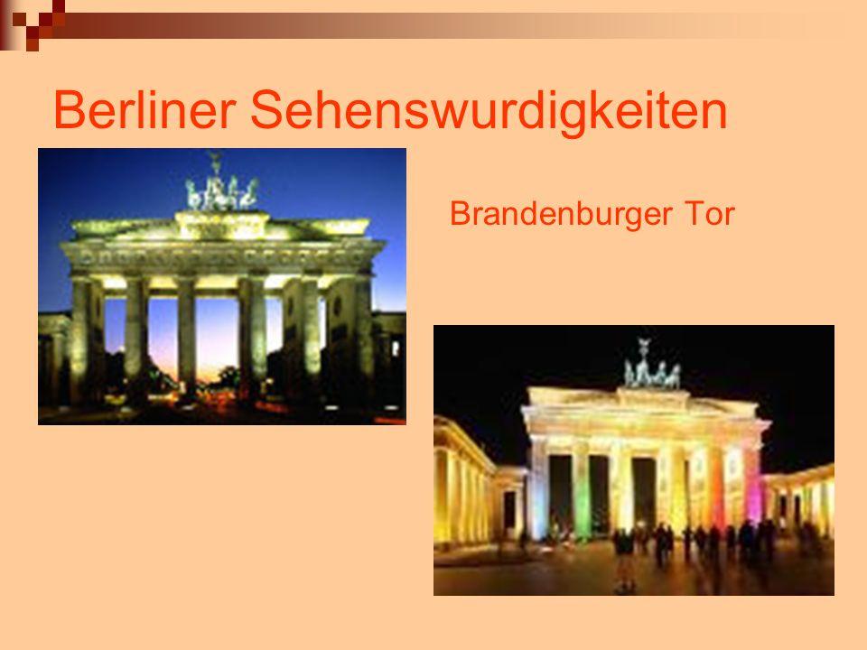 Berliner Sehenswurdigkeiten Brandenburger Tor