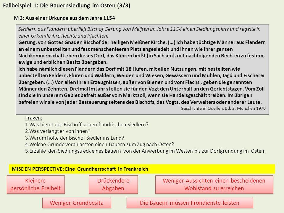 Fallbeispiel 2: Der Deutsche Orden und die Eroberung Preußens (1/3) M 1: Der Staat des Deutschen Ordens um 1260