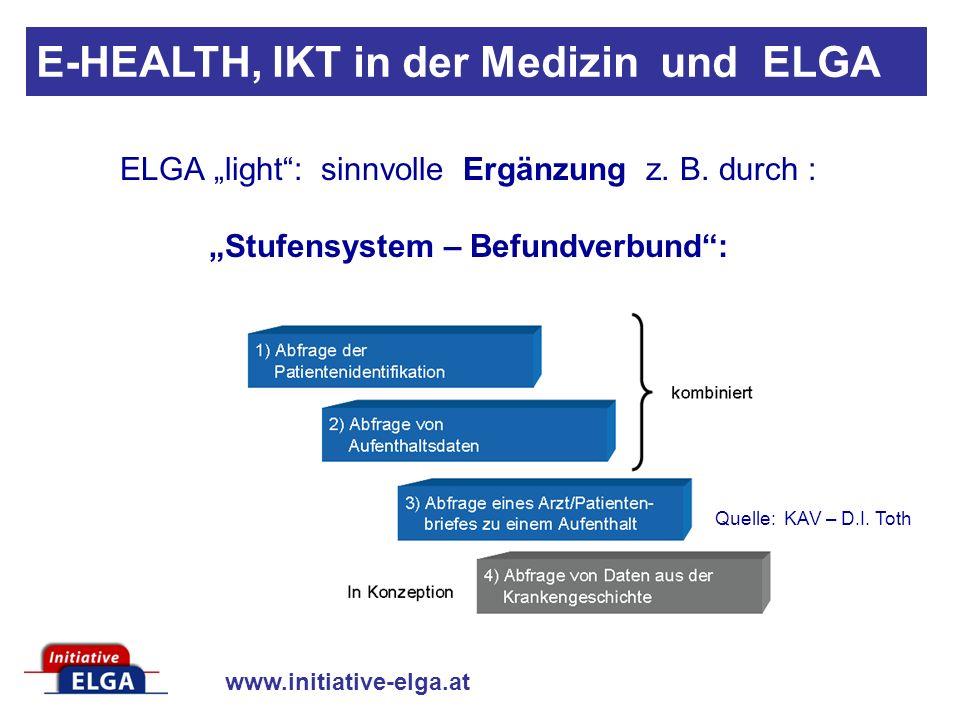 www.initiative-elga.at E-HEALTH, IKT in der Medizin und ELGA ELGA light: sinnvolle Ergänzung z.