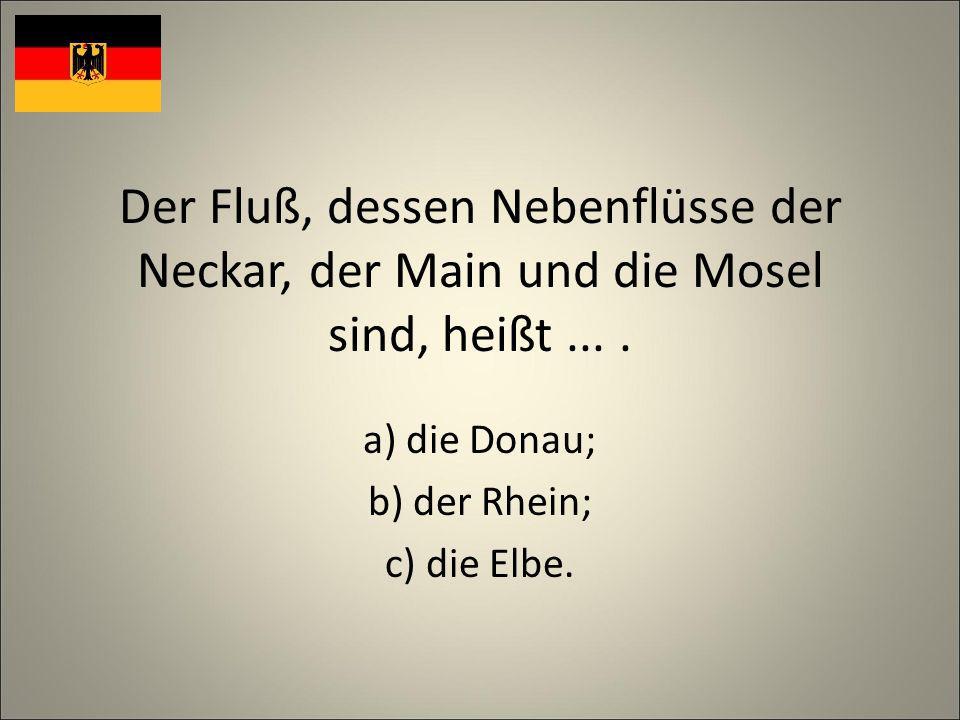 Der Fluß, dessen Nebenflüsse der Neckar, der Main und die Mosel sind, heißt....