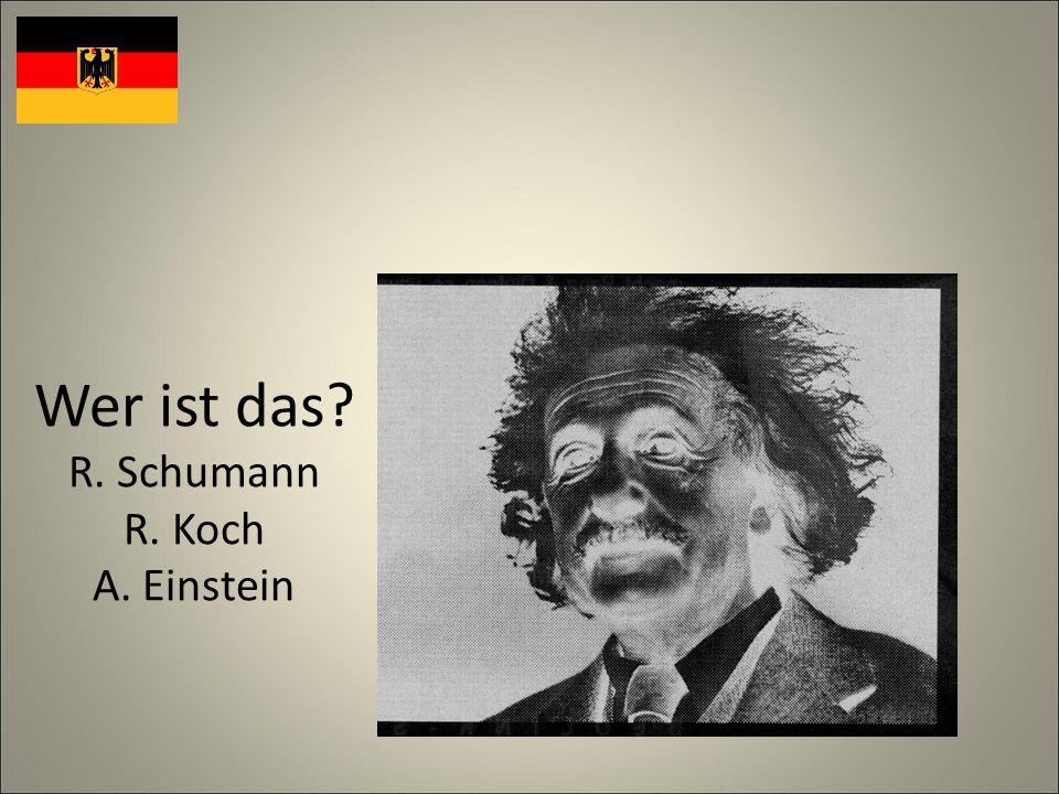 Wer ist das R. Schumann R. Koch A. Einstein