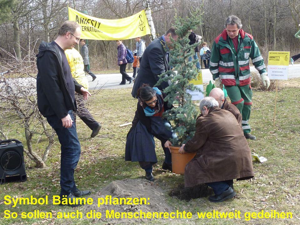Symbol Bäume pflanzen: So sollen auch die Menschenrechte weltweit gedeihen