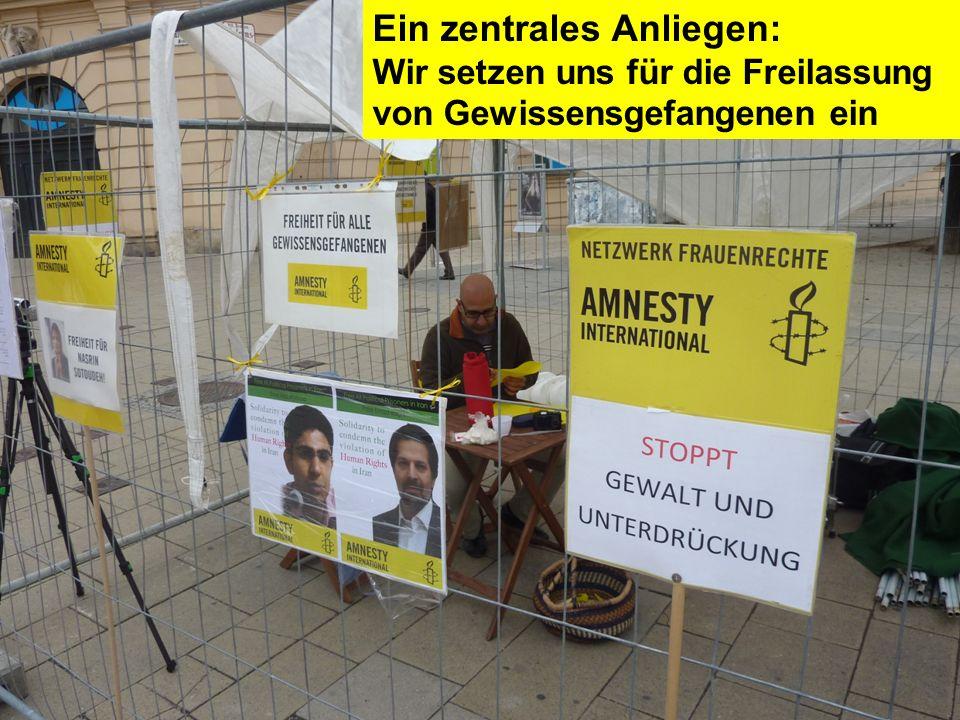 Ein zentrales Anliegen: Wir setzen uns für die Freilassung von Gewissensgefangenen ein