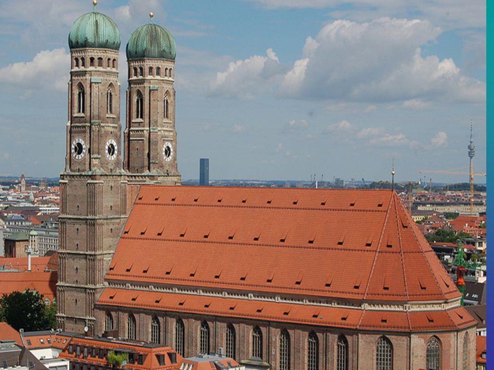 Die Frauenkirche Einer der berühmtesten Orte in München können markieren.Die Frauenkirche der höchste Kathedrale in München, der das Wahrzeichen der S