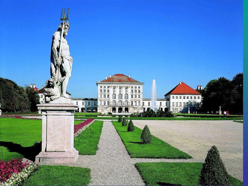 Schloss Nymphenburg Schloss Nymphenburg liegt im Westen von München, Neuhausen-Nymphenburg. Ursprünglich wurde der Palast erbaut im Stil des Barock