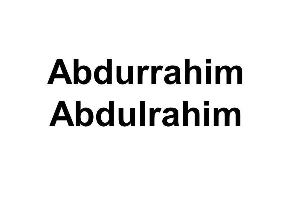 Abdurrahim Abdulrahim