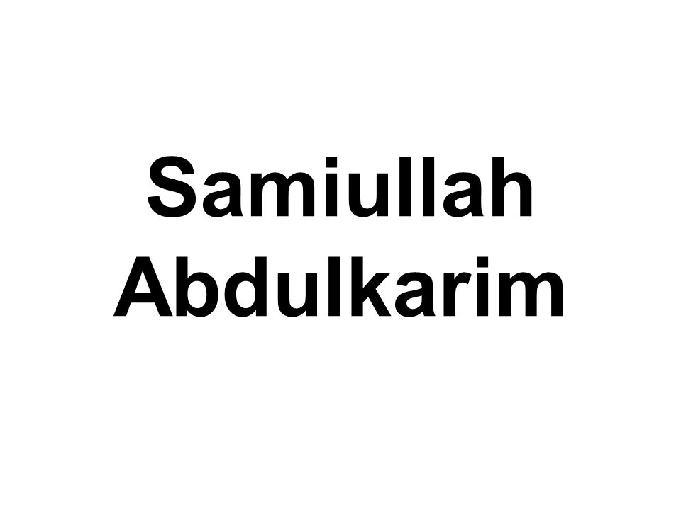 Samiullah Abdulkarim