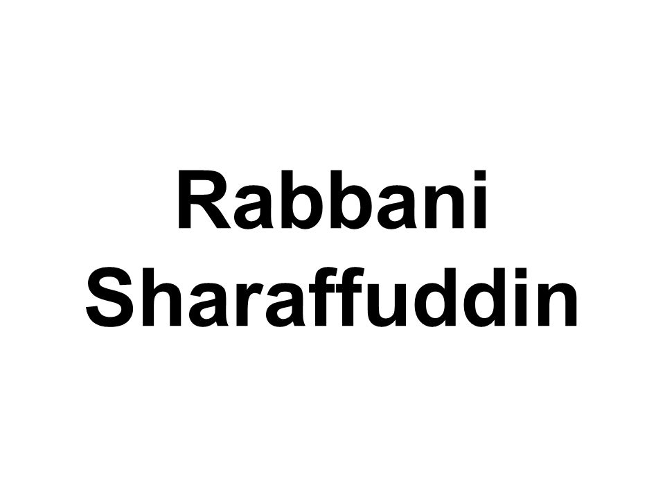 Rabbani Sharaffuddin