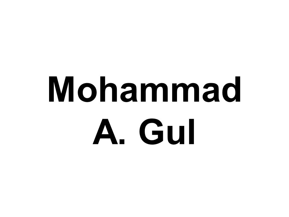 Mohammad A. Gul