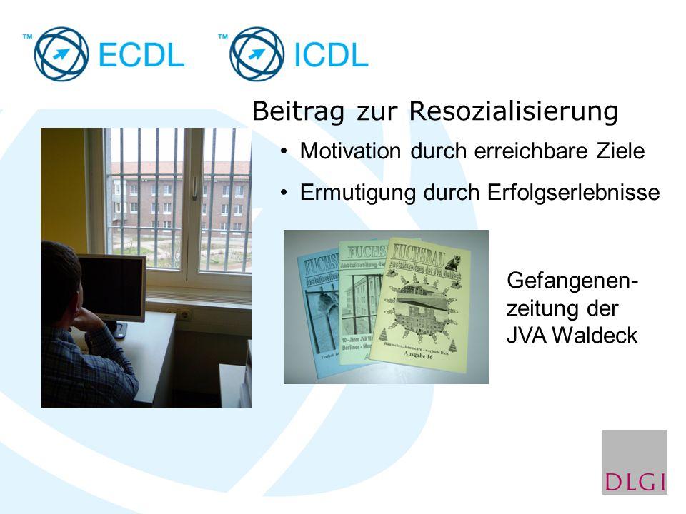 Beitrag zur Resozialisierung Motivation durch erreichbare Ziele Ermutigung durch Erfolgserlebnisse Gefangenen- zeitung der JVA Waldeck