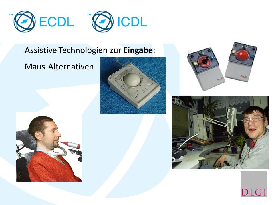 Assistive Technologien zur Eingabe: Maus-Alternativen