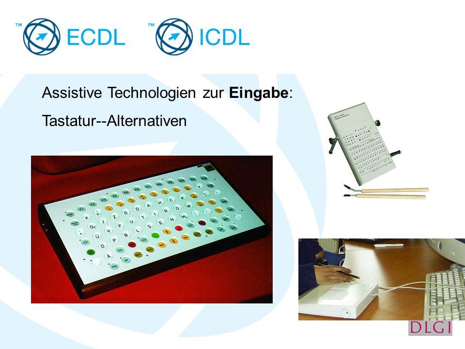 Assistive Technologien zur Eingabe: Tastatur--Alternativen