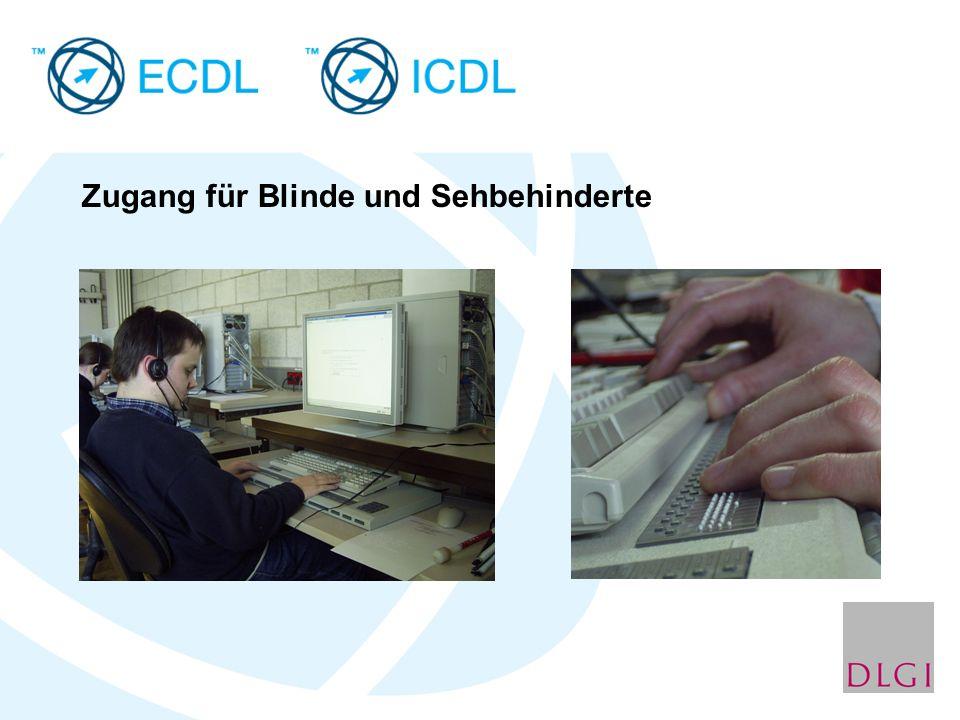 Zugang für Blinde und Sehbehinderte