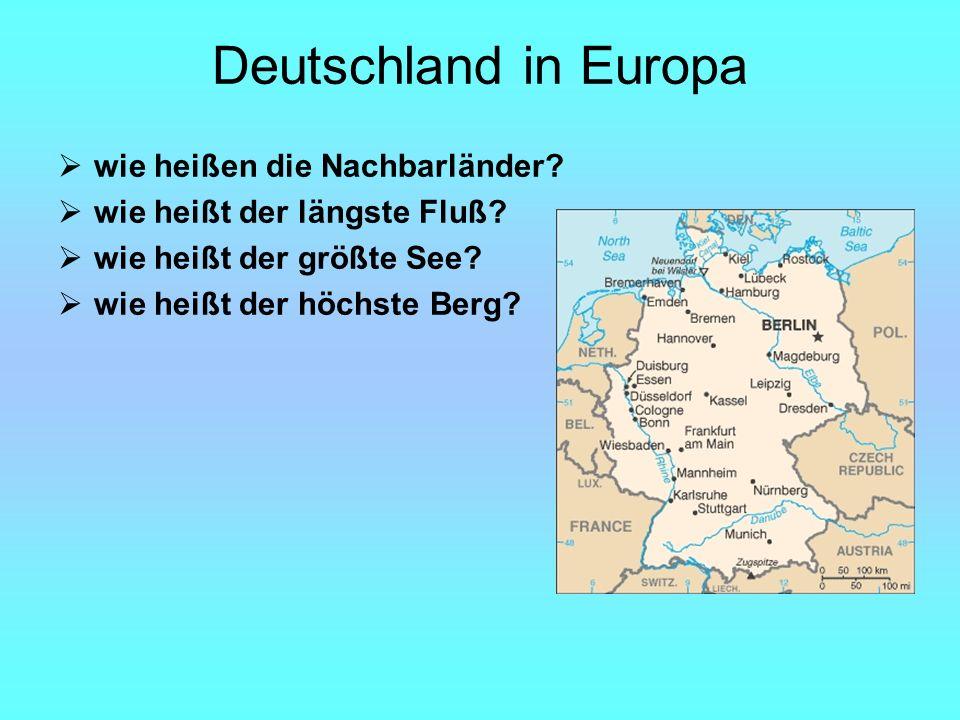 Deutschland in Europa wie heißen die Nachbarländer.