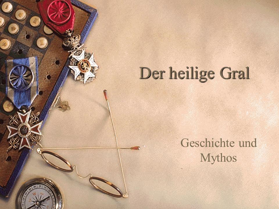 Inhalt 1.Der Gral wird erdacht – Chretien de Troyes 2.Das Wesen des Grals 3.Der Gral als antike Reliquie.