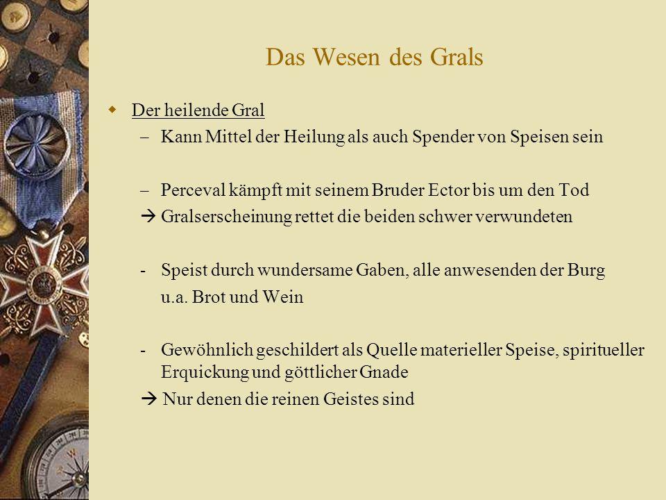 Der Gral als antike Reliquie.