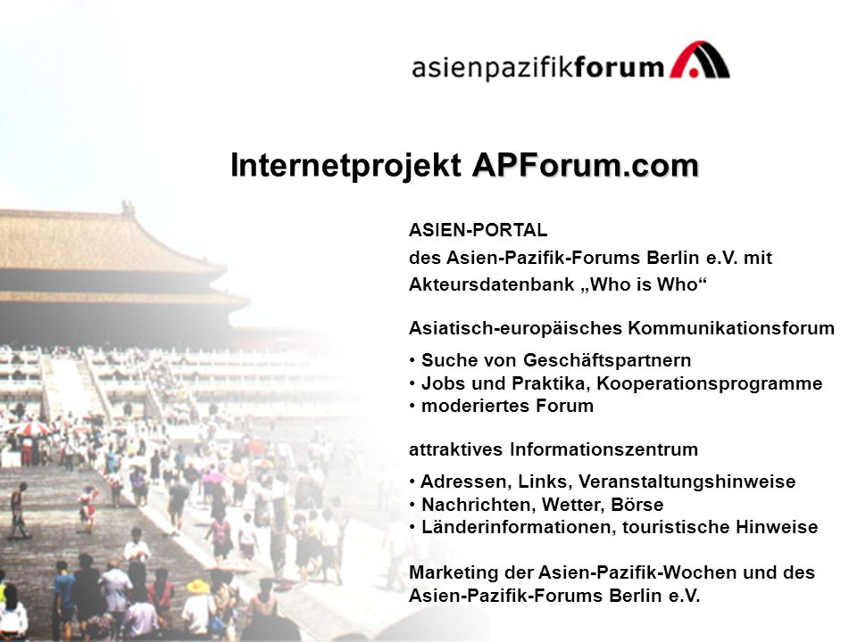 ASIEN-PORTAL des Asien-Pazifik-Forums Berlin e.V.