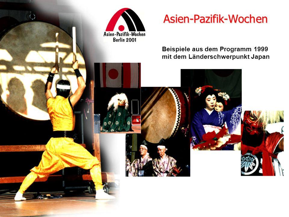 Beispiele aus dem Programm 1999 mit dem Länderschwerpunkt Japan Asien-Pazifik-Wochen