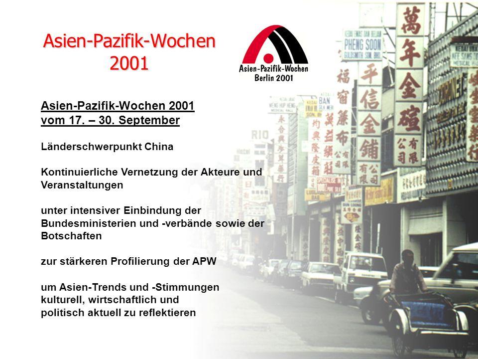 Asien-Pazifik-Wochen 2001 vom 17. – 30.
