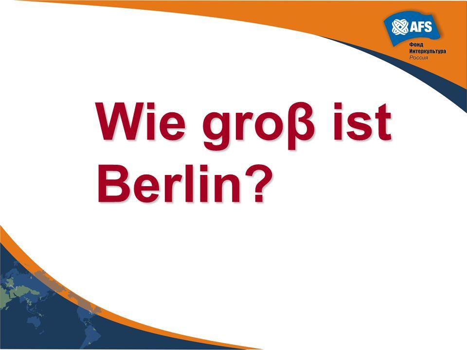 Wie groβ ist Berlin?