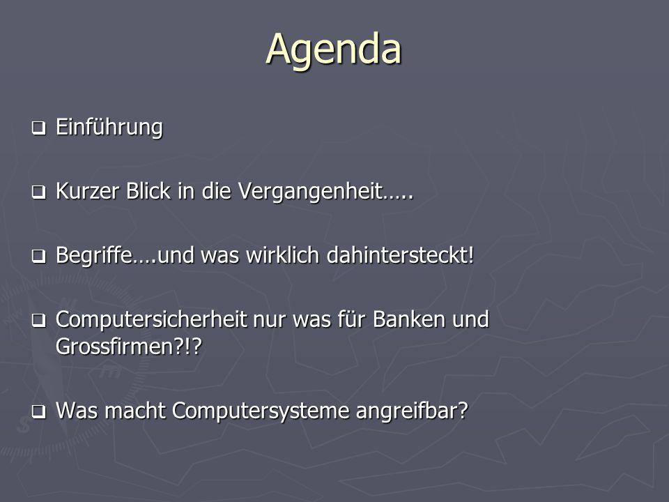 Agenda Einführung Einführung Kurzer Blick in die Vergangenheit….. Kurzer Blick in die Vergangenheit….. Begriffe….und was wirklich dahintersteckt! Begr