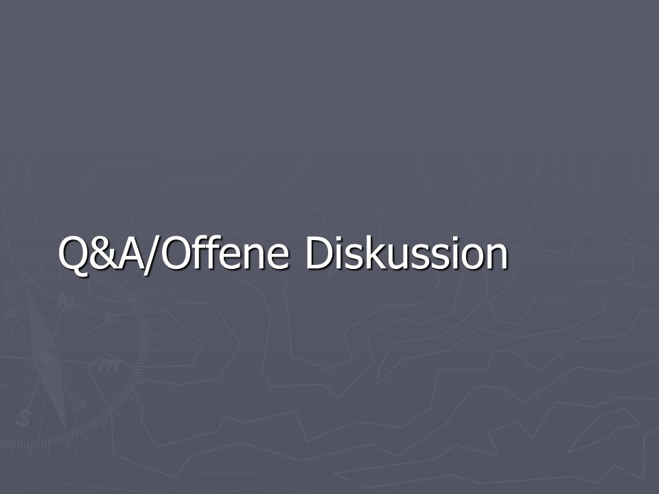 Q&A/Offene Diskussion